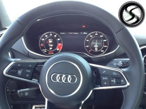 As you can see Audi has placed the new digital dash on board.